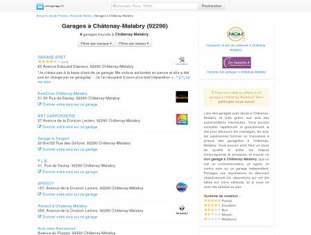 Garage Châtenay-Malabry - Comparatif des...