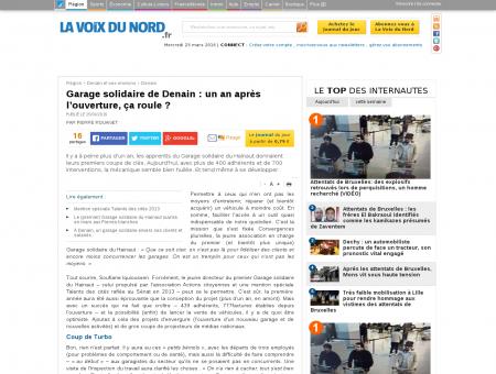 Garage solidaire de Denain : un an après...