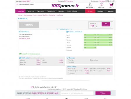 Inter Pneus | Montage pneu Bas Rhin | 1001Pneus