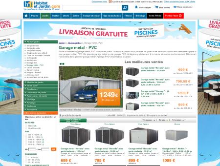 Garage métal - PVC - Mobilier de jardin et...