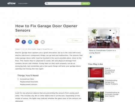 How to Fix Garage Door Opener Sensors   eHow