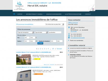 Annonce immobilier notaire - BRUAY - LA -...