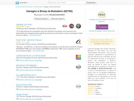 Garage Bruay-la-Buissière - Comparatif des...