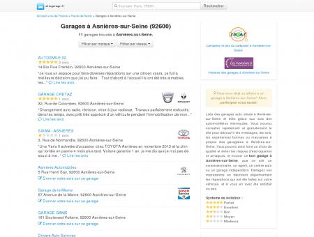 Garage Asnières-sur-Seine - Comparatif des...