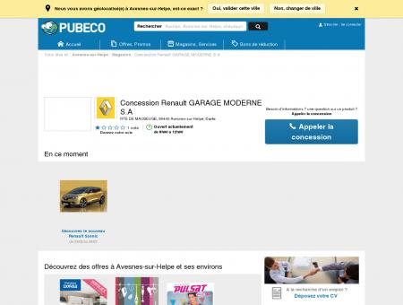 Concession Renault GARAGE MODERNE S.A -...
