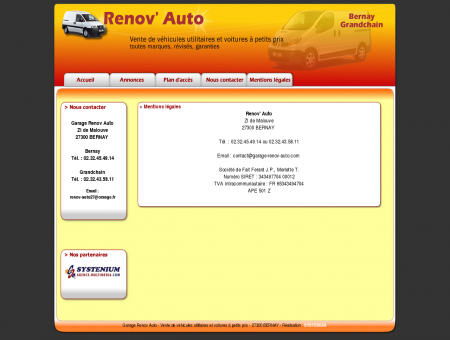 Garage Renov Auto, Bernay, Grandchain,...