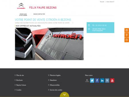FELIX FAURE BEZONS : garage et...