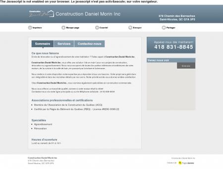 Construction Daniel Morin Inc. | Construction,...