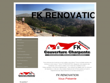 FK RENOVATION couverture charpentes Alpes...