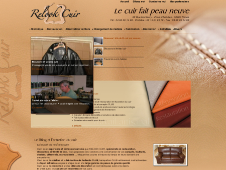 Relook Cuir, rénovation refection re-teinte des...