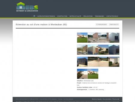 Extension au sol d'une maison à Montauban...