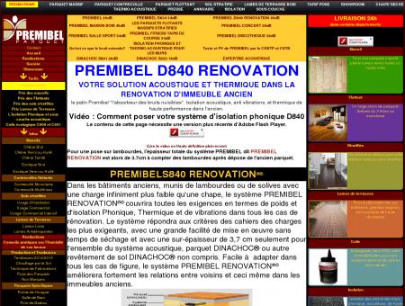 PREMIBEL D840 RENOVATION - PARQUET...