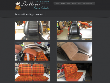 Rénovation siège  volant | Sellerie Sainte...