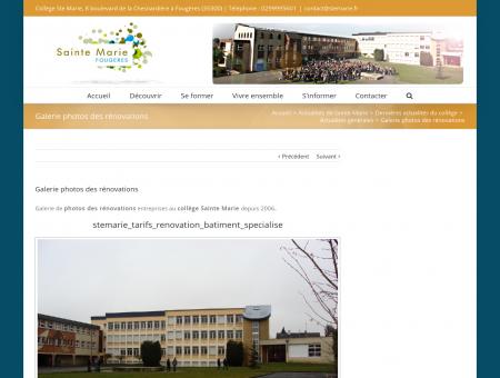 Galerie photos des rénovations - Collège...