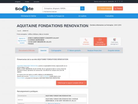 AQUITAINE FONDATIONS RENOVATION...