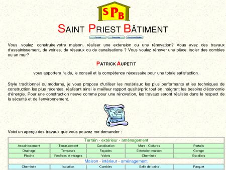 Page d'accueil Saint Priest batiment