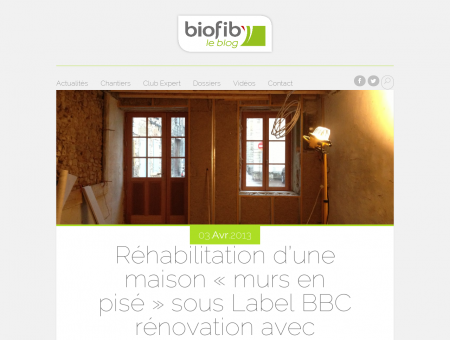 Réhabilitation d'une maison « murs en pisé »...