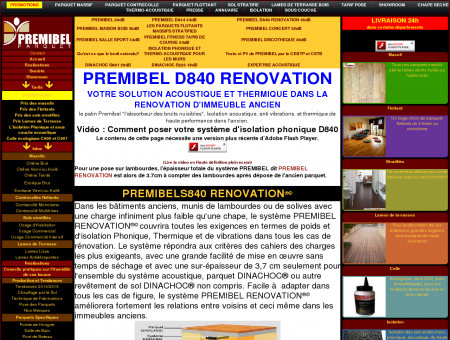 PREMIBEL D840 RENOVATION - PARQUET...