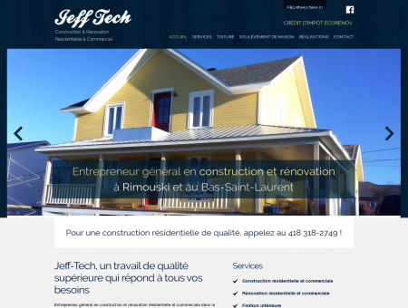 Construction et rénovation Jeff-Tech |...