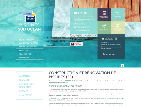 Piscine 33 - PISCINE SUD OCEAN : construction...