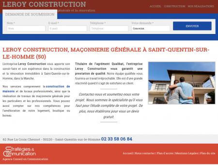 Leroy Construction, maçonnerie générale à...