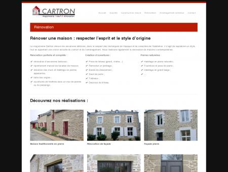 Rénovation « Maçonnerie CARTRON  Artisan...