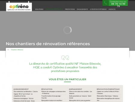 Chantiers de rénovation réalisés - Optiréno