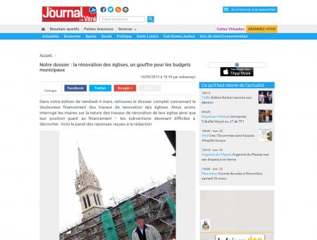 Notre dossier : la rénovation des églises, un...