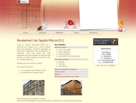 Ravalement facade Macon - NOVA DECO :...