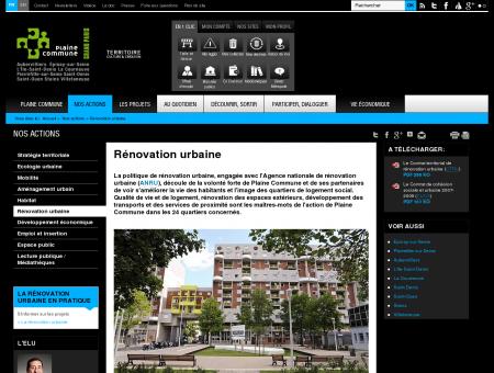 Rénovation urbaine - Plaine Commune...