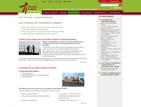 Rénovation urbaine OPH 93   Les travaux de...