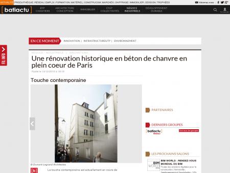 Une rénovation historique en béton de chanvre...
