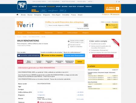 Société VAUX RENOVATIONS à VAUX LE...