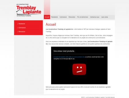 Les Constructions Tremblay et Laplante & Accueil