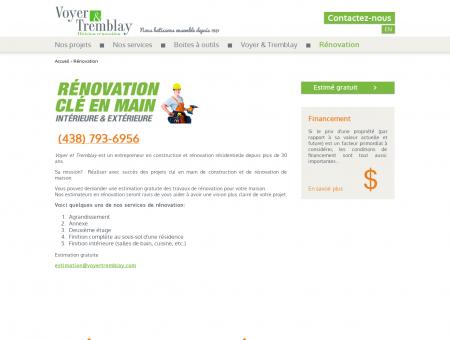 Rénovation - VoyerTremblay