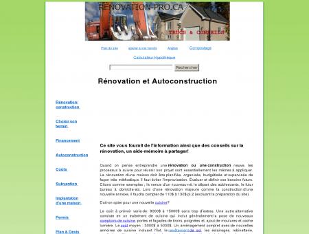 RENOVATION & CONSTRUCTION -...