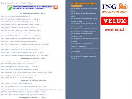 Entreprises de rénovation en Brabant Wallon