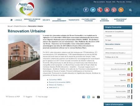 Rénovation Urbaine - Emploi Economie -...