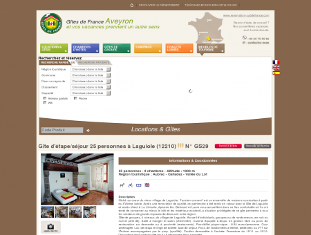 Gîte d'étape/séjour 25 personnes à Laguiole...