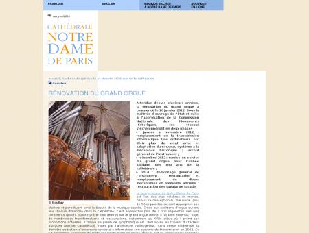 [Notre-Dame de Paris] Rénovation du grand...