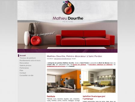 Peintre décorateur Mathieu Dourthe, travaux de...