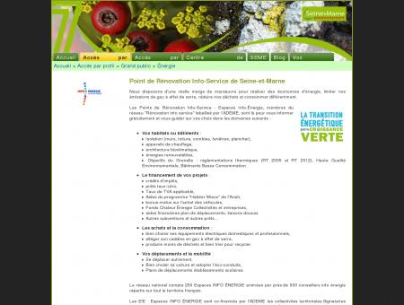 Seine-et-Marne environnement > Point de...