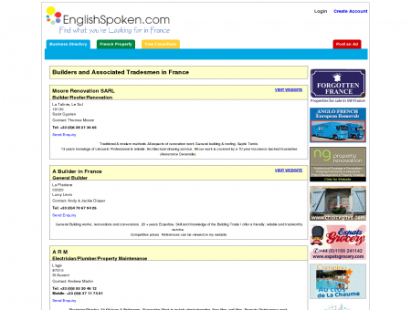 English Speaking Builders and Associated Tradesmen in France
