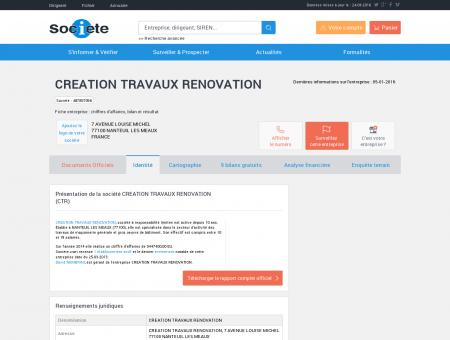 CREATION TRAVAUX RENOVATION...