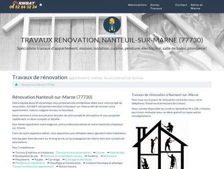 Travaux Renovation, Nanteuil-sur-Marne...