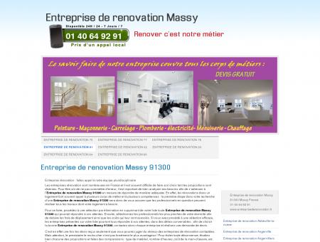 Entreprise de renovation Massy 91300 Tel: 01...