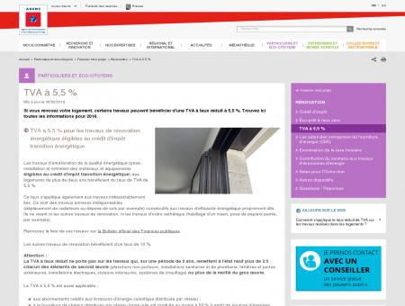 Rénovation - TVA à 5,5 %  ADEME - ADEME |...
