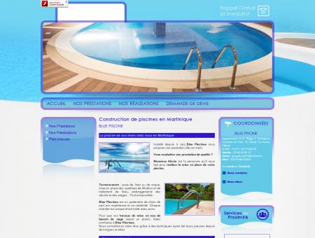 Construction de piscine Fort de France - BLUE...