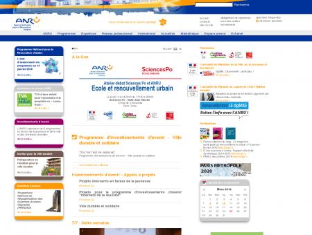 Accueil - ANRU - Agence nationale pour la...