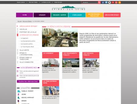 La rénovation urbaine - Ville d'Epinay sur Seine